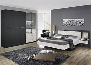 chambre adulte contemporaine chene clair gris metallique With photos de chambre contemporaine