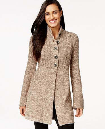 style and co sweaters style co marled button front sweater coat only at macy