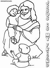 Jesus Friend Coloring Colorings sketch template