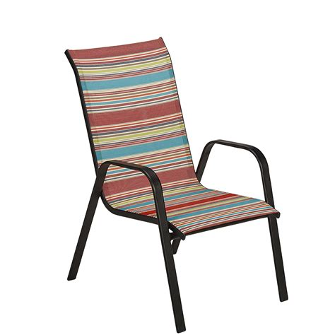 essential garden bartlett multi stripe stack chair shop