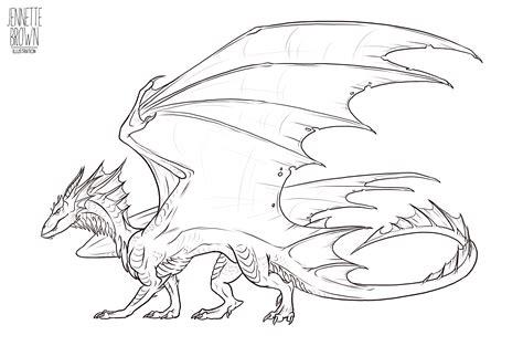 dragon lineart template   sugarpoultry  deviantart