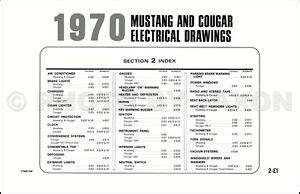Ford Mustang Mercury Cougar Original Wiring Diagram