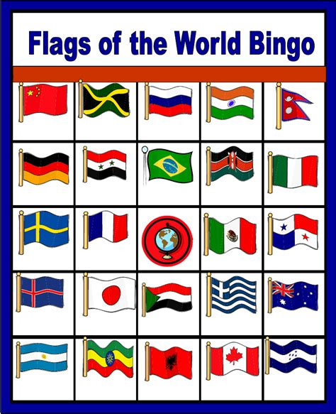 flags   world bingo scribd  images