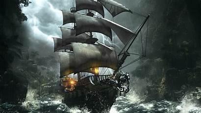 Pirate Ship Fantasy Rpg Action Adventure Ravens