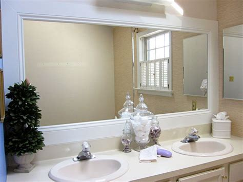 Large Bathroom Mirror Frame by How To Frame A Bathroom Mirror Diy Bathroom Mirrors