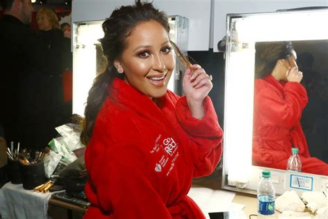 Adrienne Bailon At Go Red For Women Red Dress Collection