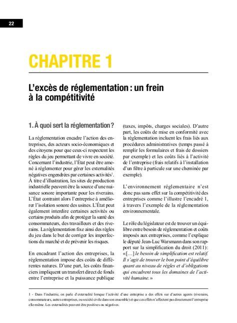 reglementation si鑒e auto réglementation normalisation leviers de la compétitivité industrie