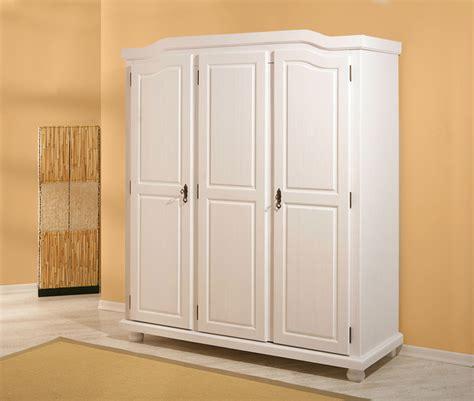 meuble cuisine en pin armoire 3 portes bastian blanc