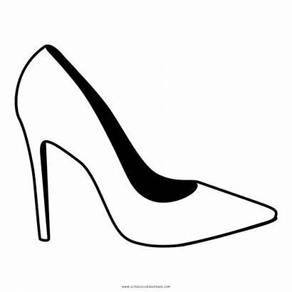 Coloring Sapato Shoe Desenho Colorir Salto Clipart