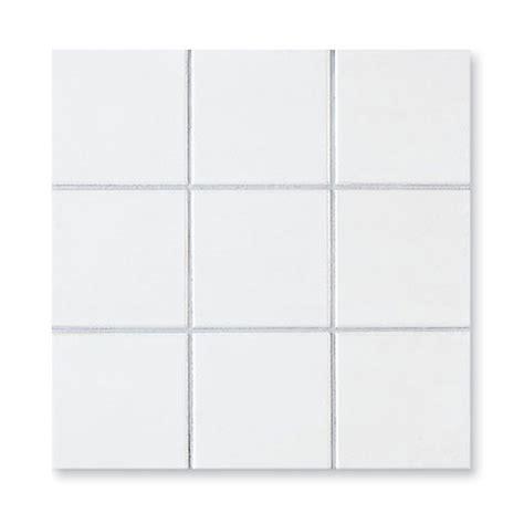 Superior White Mosaik Fliesen 10 X 10 Cm Weiß Matt Hardys24