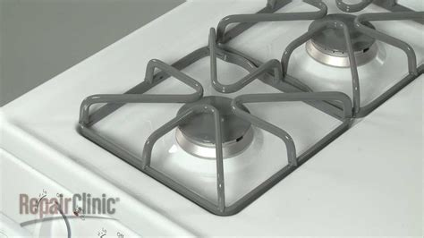 ge gas range burner grate replacement wbk youtube
