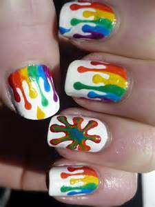 Amazing rainbow nail art tutorials with detailed steps