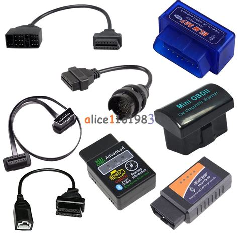 elm bluetooth car diagnostic wireless scanner obd pin    pin cable ebay