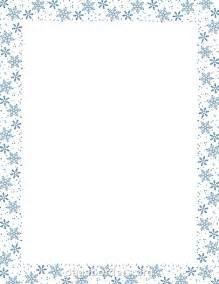 Winter Snowflakes Clip Art Borders Free