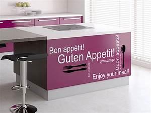 Messer Gabel Löffel Französisch : wandtattoo guten appetit 2 farbig f r die k che bei ~ Markanthonyermac.com Haus und Dekorationen