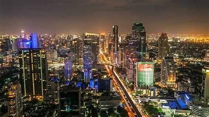 Skyline Dallas Night Bangkok Wallpapers Timelapse Footage
