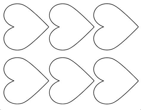 Free Printable Love Heart Shape Template Calendar