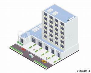 U0026quot Modern Office Building Illustration In Isometric View