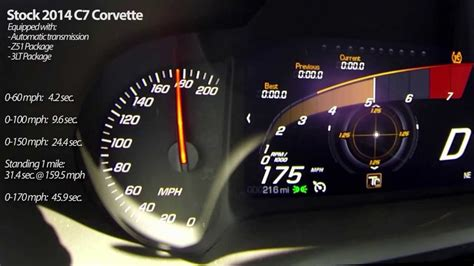 How Fast Does A Corvette Go by 2014 C7 Corvette Stingray Runs 159 5 Mph In Standing Mile