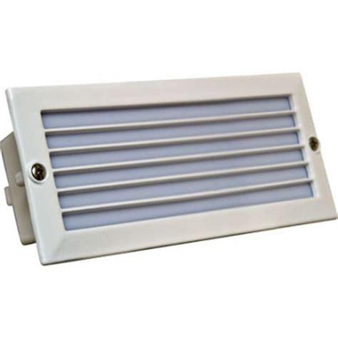 filament design ashler 1 light white outdoor recessed step