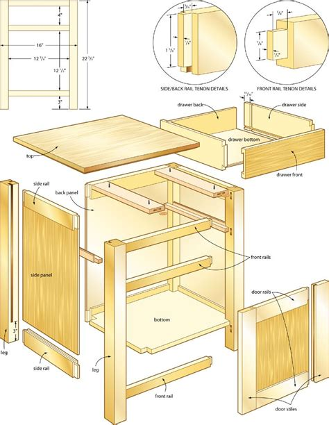 classic night stand woodworking plans  pinteres