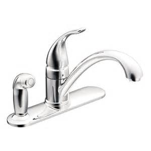 moen ca87484 torrance 1 handle low arc kitchen faucet with side spray lowe 39 s canada