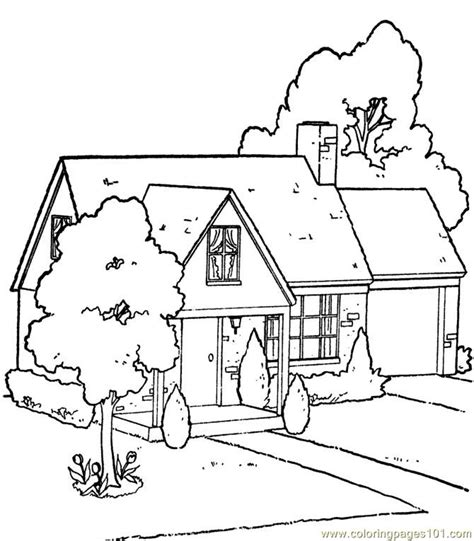 garden house coloring page  houses coloring pages