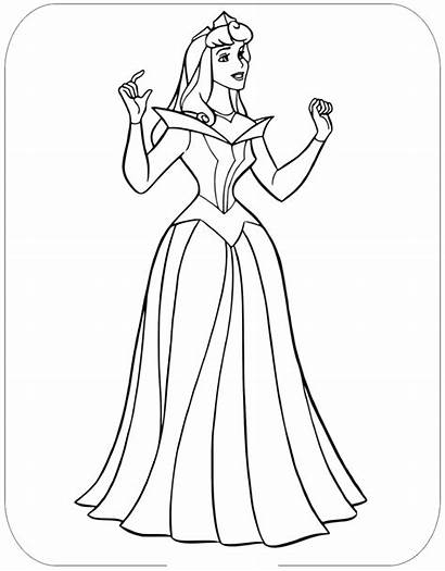 Aurora Coloring Princess Colorear Printable Dibujos Disney