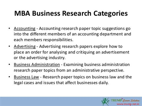 Management Essay Topics  Ivoiregion Mba Business Research Paper Topics