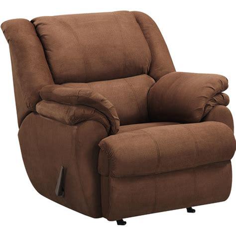 reclining wingback ashford padded rocker recliner brown walmart com