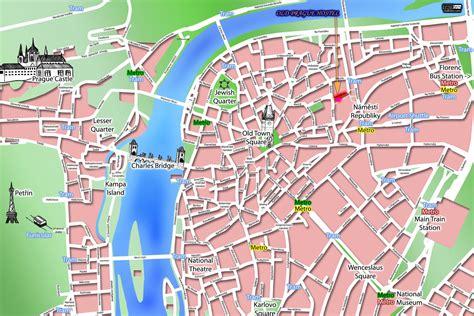 prague tourist map prague czech republic mappery