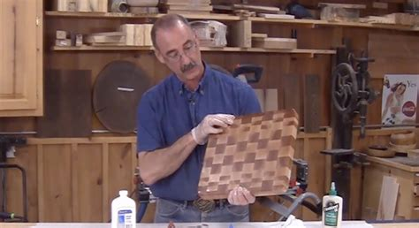 grain cutting board woodworking project plan