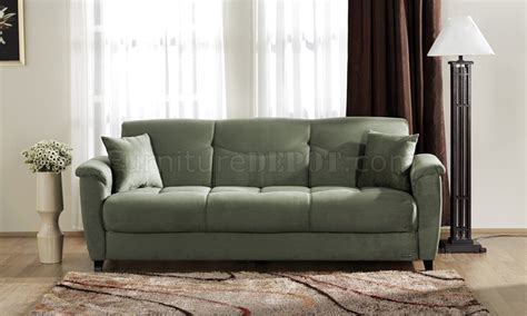 sage microfiber sofa microfiber fabric living room storage sleeper sofa