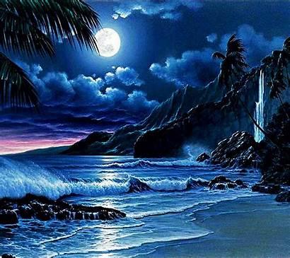 Night Nature Moon Sky Background Zedge Beach