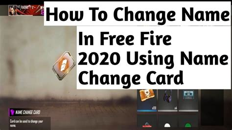 A new pop up dialog will appear. How To Change Name In Free Fire 2020 ? Using Name Change ...