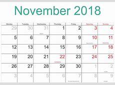 Online November 2018 Calendar