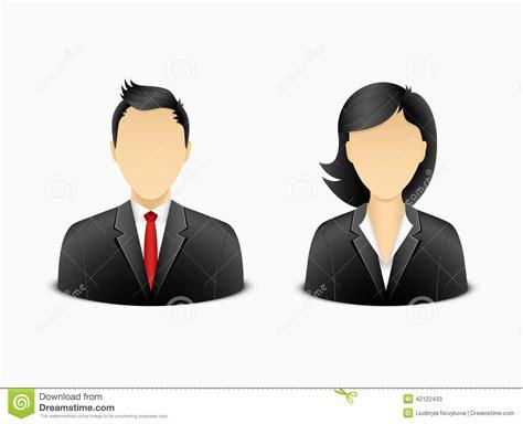 bureau femme homme de bureau et avatar de femme illustration de vecteur