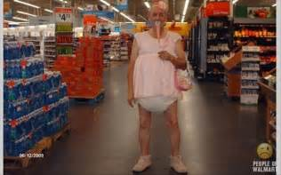 Baby Dressers At Walmart by People Of Wal Mart Old Man In Diapers Dump A Day