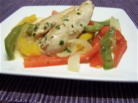 cuisiner des filets de poulet filet de poulet aux poivrons plat du jour recettes de