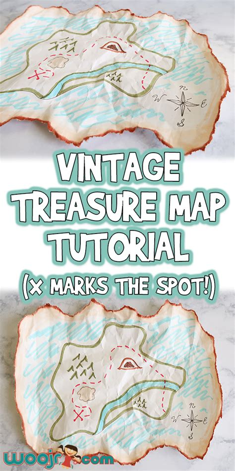 vintage treasure map craft tutorial  marks  spot