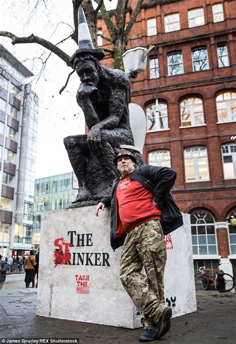 Banksy sculpture 'The Drinker' returned to Shaftsbury Avenue by Art Kieda | Daily Mail Online