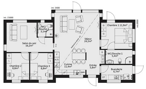 maison 5 chambres plan maison moderne 5 chambres design plan maison moderne