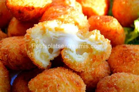 croquettes de pommes de terre et mozzarella petits plats