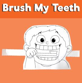 child brushing teeth printable craft  minutes  quality time