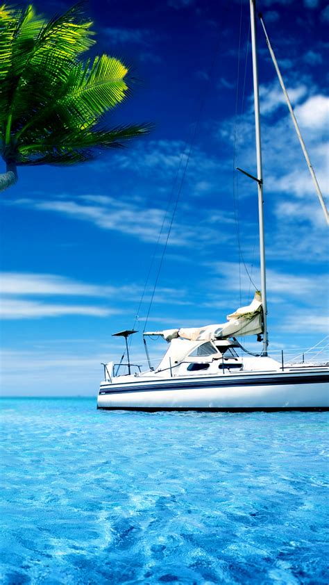 wallpaper yacht tropical beach hd photography