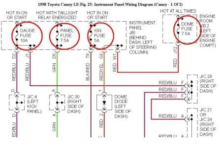 2005 Toyotum Camry Xle Fuse Box Diagram by Toyota Camry Questions My Temp Indicator On The