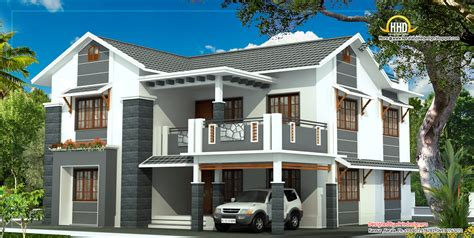 Beautiful 2 Story House Elevation  2805 Sq Ft Kerala