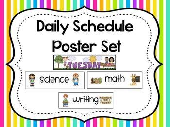 daily schedule posters   school  creative lesson