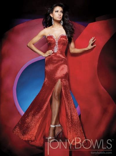 red tony bowls collection liquid beaded pageant dress