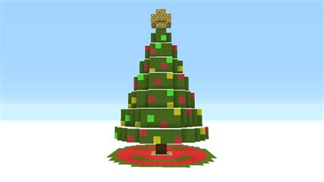 how to make a big christmas tree minecraft tutorial how to make a tree